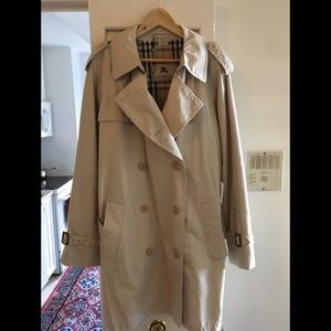 Burberry Men's Long Heritage Coat - Size 44